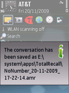 Total Recall Symbian Call Recorder | The Best Beep Free Call